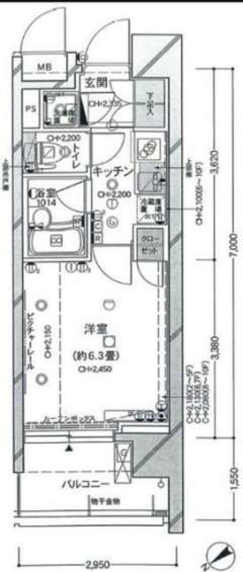 パレステュディオ芝浦City(間取)