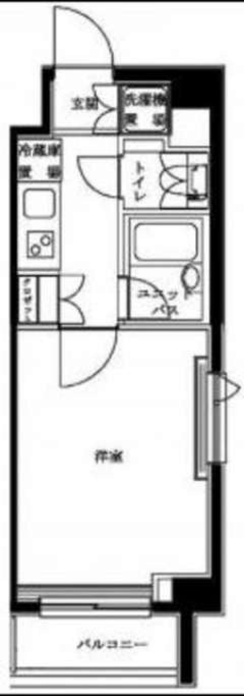 バストイレ別に1K(間取)